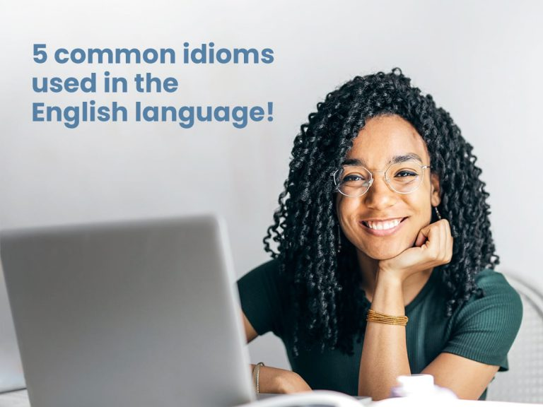 Student learning English Idioms